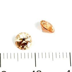 Cubic zircon rund champagne 5 mm