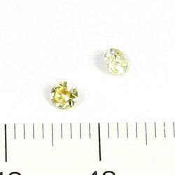 Cubic zircon rund gul 3 mm