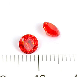 Cubic zircon rund orangeröd 5 mm