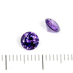 Cubic zircon rund ametistlila 5 mm