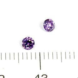 Cubic zircon rund ametistlila 3 mm