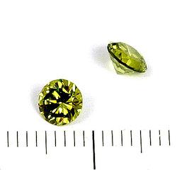 Cubic zircon rund peridotgrön 5 mm