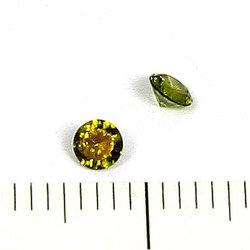 Cubic zircon rund peridotgrön 3 mm