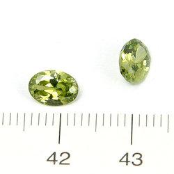 Cubic zircon oval peridotgrön 7 x 5 mm