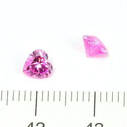 Cubic zircon hjärtformad rosa 5 mm