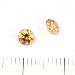Cubic zircon rund champagne 4 mm