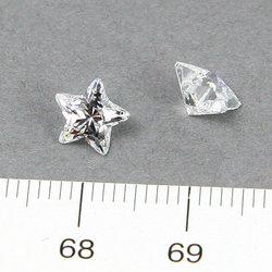 Cubic zircon stjärnformad vit 7 mm - Utgående vara