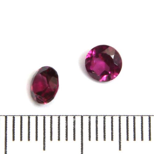Facetterad ädelsten rhodolitgranat 5 mm
