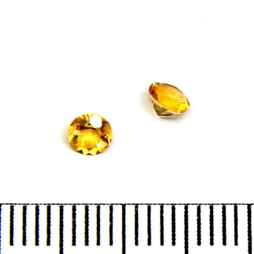 Facetterad ädelsten citrin 3,5 mm