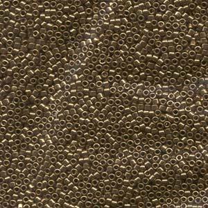 11/0 Miyuki Delica metallic light bronze