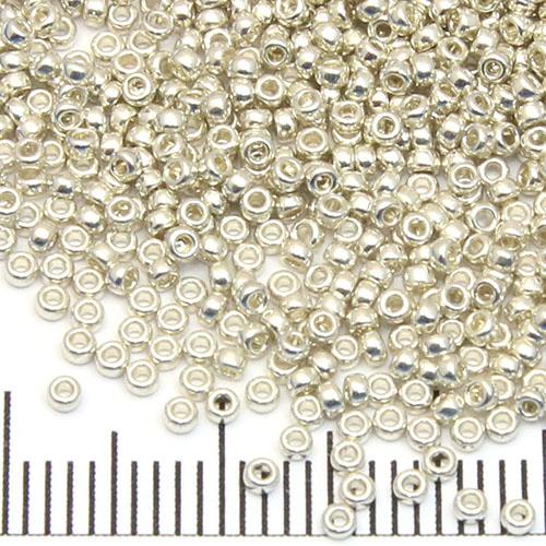 15/0 Miyuki Rocaille galvanized silver (181)