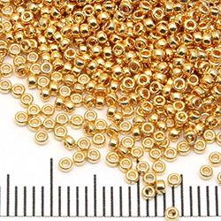 15/0 Miyuki Rocaille 24K gold plated (191)