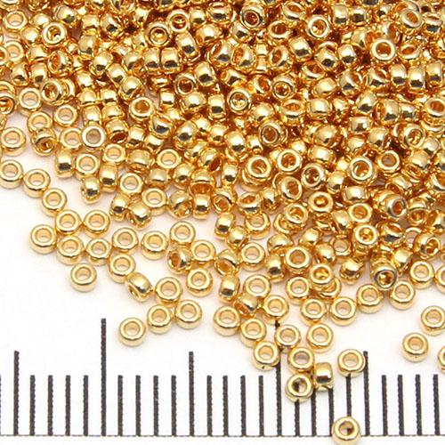 15/0 Miyuki Rocaille 24K gold plated (191) - Utgående vara