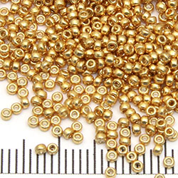 15/0 Miyuki Rocaille duracoat galvanized gold (4202)