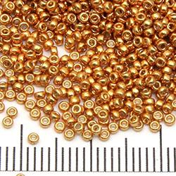 15/0 Miyuki Rocaille duracoat galvanized yellow gold (4203)
