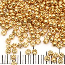 11/0 Miyuki Rocaille duracoat galvanized gold (4202)