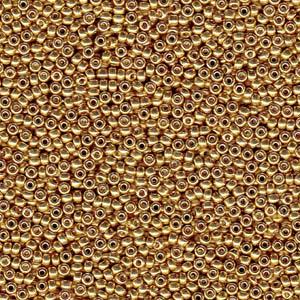 8/0 Miyuki Rocaille duracoat galvanized gold