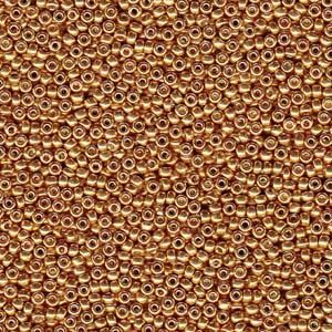 8/0 Miyuki Rocaille duracoat galvanized yellow gold