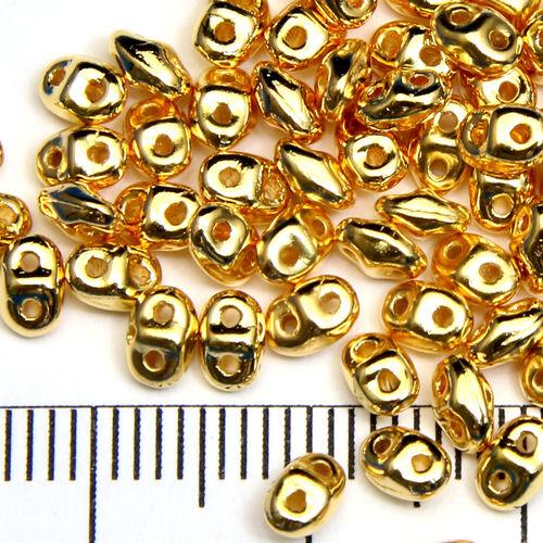Miniduo 2x4 mm 24k gold plated - Utgående vara