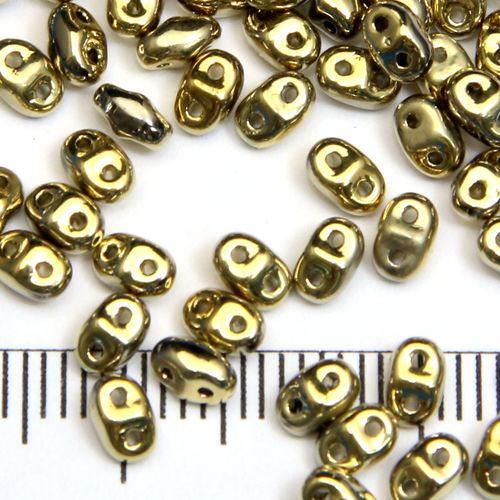 Miniduo 2x4 mm crystal full amber - Utgående vara