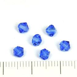 Swarovski Xilion bicone 4 mm sapphire (blå)