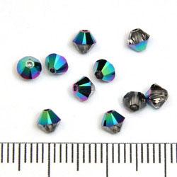 Swarovski Xilion Bicone 4 mm crystal scarabaeus green