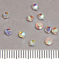 Swarovski Xilion bicone 3 mm crystal 2xAB