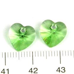 Swarovski Xilion heart 10 mm hänge peridot (grön).