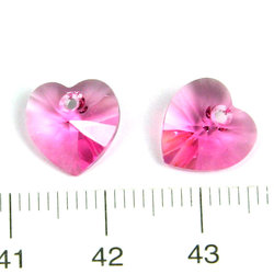 Swarovski Xilion heart 10 mm hänge rose (rosa)