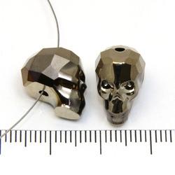Swarovski Skull (5750) 14 x 13 x 10 mm dödskalle pärla Crystal metallic light gold 2x (klar/mörk guldmetallic) - Utgående vara