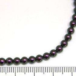 Swarovski Crystal Pearl 4 mm iridescent purple (lila med grönt skimmer)