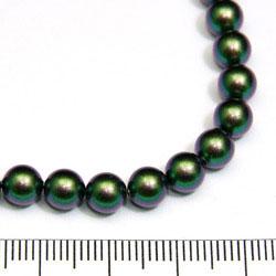 Swarovski Crystal Pearl 6 mm scarabaeus green