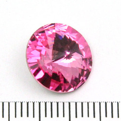 Swarovski rivoli 12 mm rose foiled