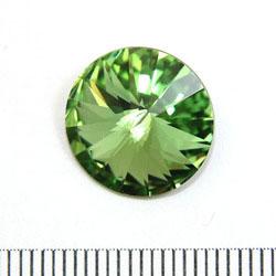 Swarovski rivoli 14 mm peridot (grön)