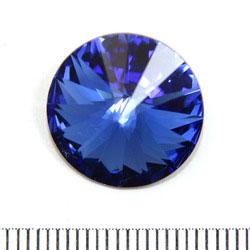 Swarovski rivoli 16 mm sapphire (blå)
