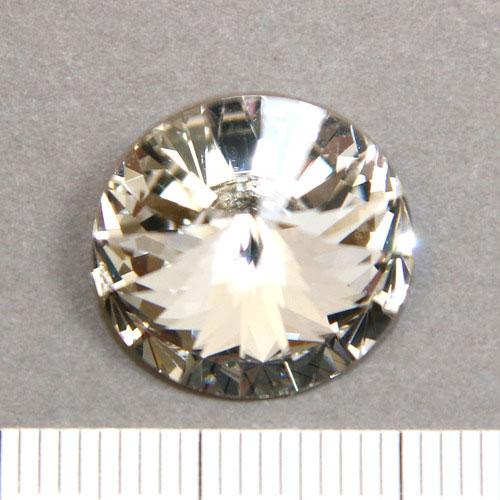 Swarovski rivoli 16 mm crystal foiled