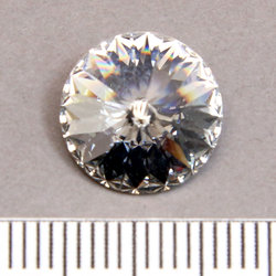Swarovski rivoli 12 mm crystal foiled