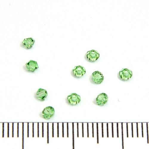 Swarovski Xilion bicone 2,5 mm peridot (ljusgrön)