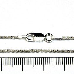 Repkedja 1,6 mm med lås 40 cm sterling silver