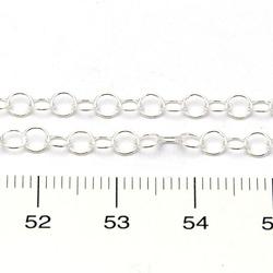 Rund kedja 3,5 mm på löpmeter sterling silver