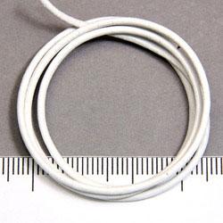Vitt läderband 1,5 mm på löpmeter