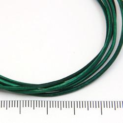 Smaragdgrönt rustikt läderband 1,5 mm på löpmeter