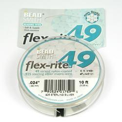 Smyckevajer FlexRite 49-trådars 0,60 mm sterling silver