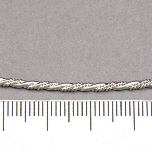 Mönstrad tvinnad silvertråd 2,16 mm sterling silver