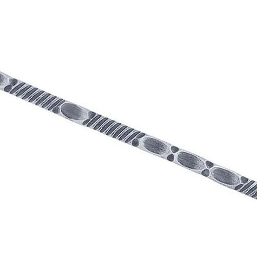 Mönstrat silverband 3,8 x 1,2 mm sterling silver