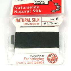 Pärlsilke svart storlek 6