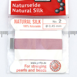 Pärlsilke mörkrosa storlek 2