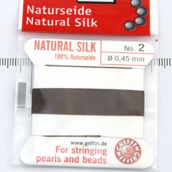 Pärlsilke mörkbrun storlek 2