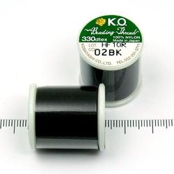 K.O. tråd för pärlsömnad svart