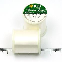 K.O. tråd för pärlsömnad benvit